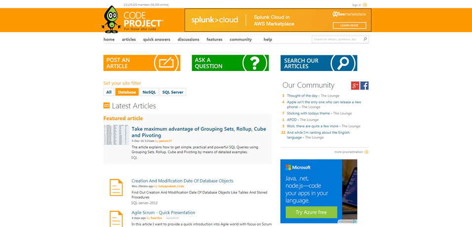 codeproject software architect news source