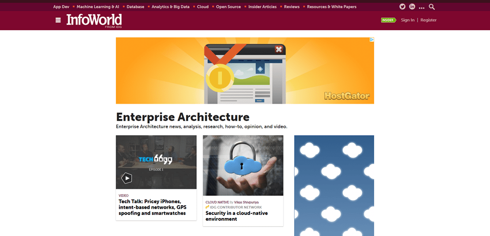 infoworld enterprise architecture